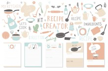 Modern Recipe Card Template Se...