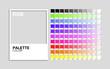 Palette color RGB vector