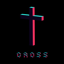 Modern Cross Icon Made In 3d I...