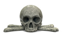 3D Render Of Stone Skull And C...