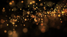 Gold Particles Glisten In The ...