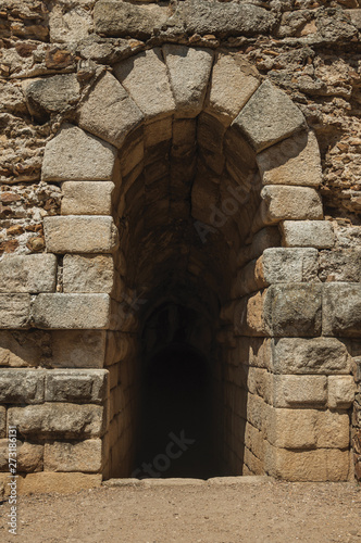 Exit on stone wall in the Roman Theater of Merida Tapéta, Fotótapéta