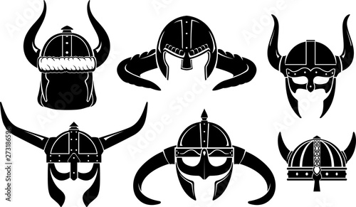 Photo  Viking Helmet Fantasy Emblem Set