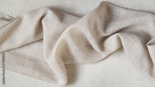 Obraz Piece of fine linen on a gray background - fototapety do salonu