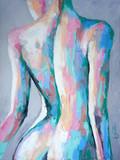 """""""Nimfa"""" - obraz olejny. Koncepcyjne malarstwo abstrakcyjne pięknego ciała dziewczyny. - 273196944"""