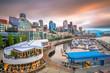 Seattle, Washington, USA Pier and Skyline