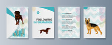Set Of Brochures Kit For Pet Purchase Advertising