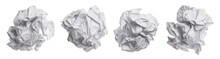 Set Of Crumpled Paper Balls, I...