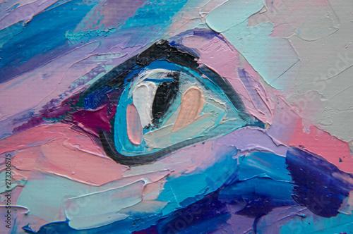 Oil cat portrait painting i...