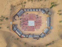 Aerial View Of Desert Safari C...