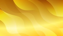 Abstract Gold Waves. Futuristic Technology Style Background. For Business Presentation Wallpaper, Flyer, Cover. Vector Illustration With Color Gradient.