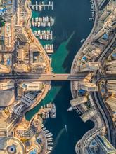 Aerial View Of Dubai Marina Wi...