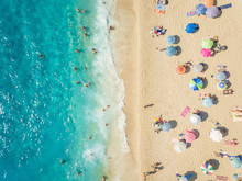 Aerial View Of People Relaxing...