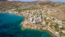 Aerial View Of A Village On Island Syros, Greece.