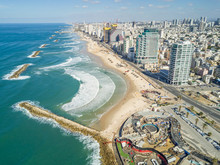 Aerial View Of Tel-Aviv Coastl...