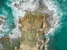 Aerial View Of Caesarea Ruins ...