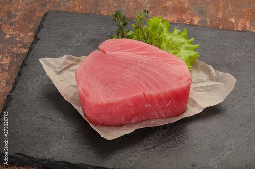 Photo  Raw tuna steak
