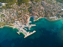 Aerial View Of The Harbour Of ...