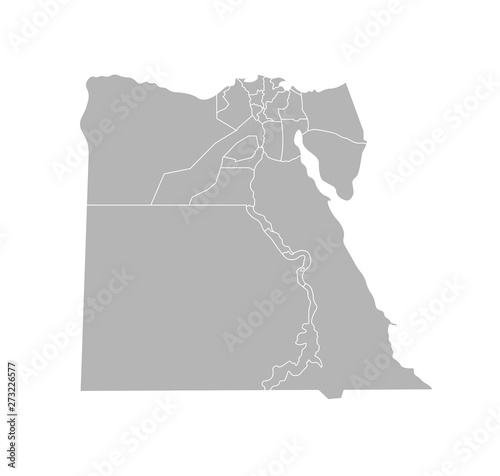 Photo Vector isolated illustration of simplified administrative map of Egypt