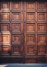 Massive Wooden Door Entrance  - Big Wood Gate -
