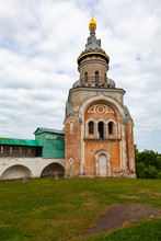 Svechnaya Tower And The Wall Of The Boris-Gleb Monastery In The City Of Torzhok, Russia