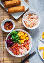 Seafood Poke Bowl With Tuna, S...
