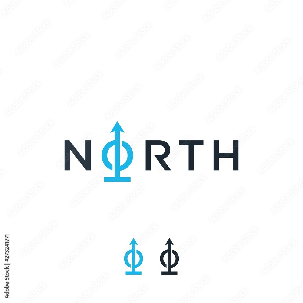 Fototapety, obrazy: north logo typography illustration vector graphic download