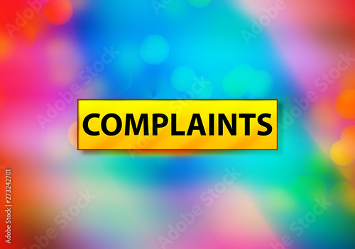 Photo Complaints Abstract Colorful Background Bokeh Design Illustration