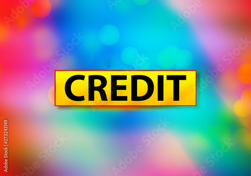 Credit Abstract Colorful Background Bokeh Design Illustration Wallpaper Mural