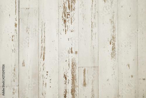 Obraz na plátně  板壁、白ペンキ、ラフ、ビンテージ