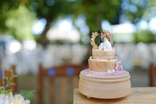 wedding doll cake, love couple, happy concept, wedding cake
