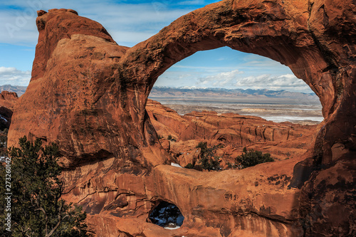Stampa su Tela Double O Arch, Arches National Park