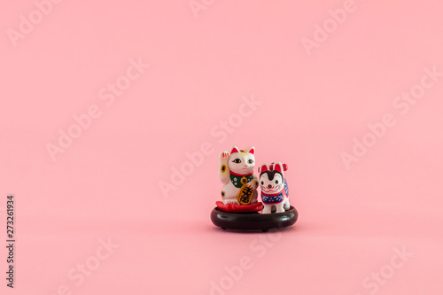 lucky fortune cat figurine Tableau sur Toile