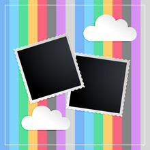 Photo Frame In Kids Scapbook M...