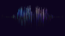 Digital Abstract Sound Wave