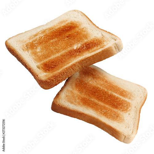 Fresh roasted toasts, isolated on white background Fototapeta