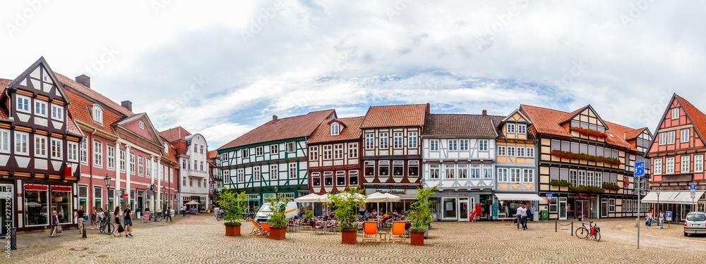 Fototapety, obrazy: Celle Marktplatz, Deutschland