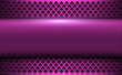 Purple metallic background, 3d bannner over perforated background