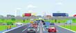Schnellstraßen in einer Großstadt