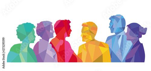 Fototapeta zusammen stehen in der Gruppe obraz