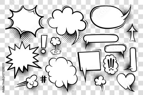 Fototapeta Komiksowe dymki pop-art na tle szachownicy na zamówienie