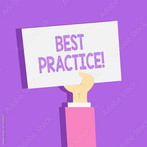 Foto  Text sign showing Best Practice