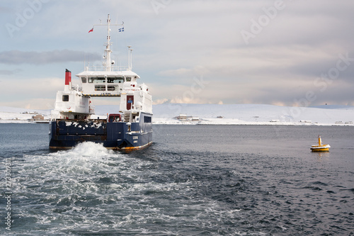 Fototapeta Bressay Ferry Lerwick Shetland