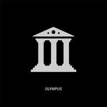 White Olympus Vector Icon On B...