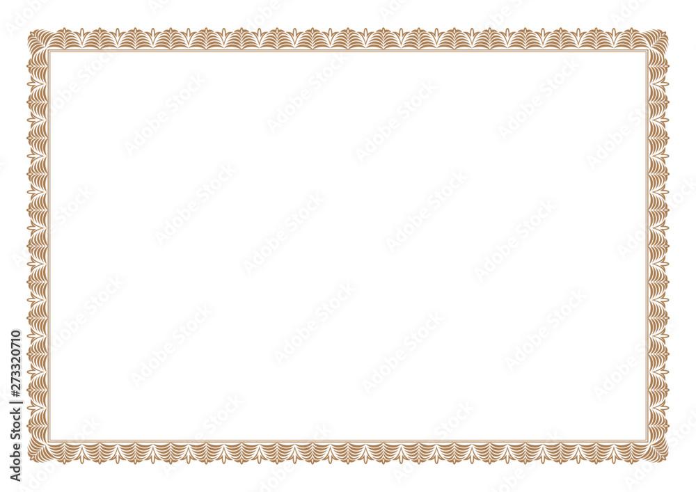 Fototapety, obrazy: Gold Certificate of Appreciation Border