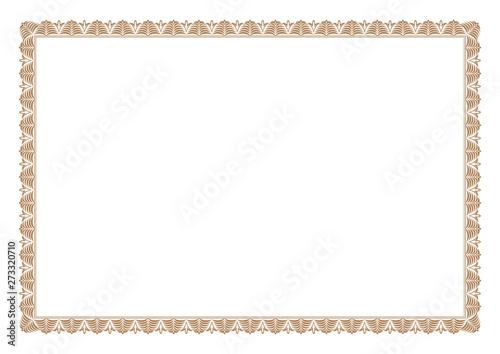 Pinturas sobre lienzo  Gold Certificate of Appreciation Border