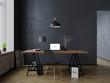 Leinwanddruck Bild - Modern minimal interior with macbook