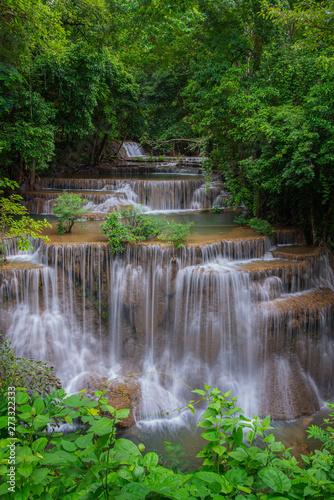 Fototapety, obrazy: Beautiful waterfall at Huay Mae Kamin Kanjanaburi Thailand.