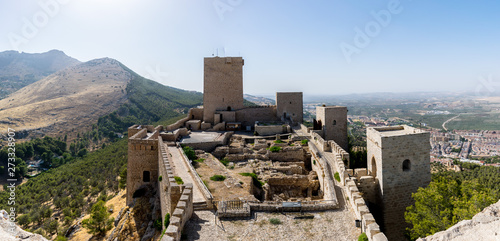 A panoramic view of Castle of Santa Catalina located in Jaen, Andalucía, Spain