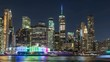 New York City Timelapse from Brooklyn with PRIDE Lights